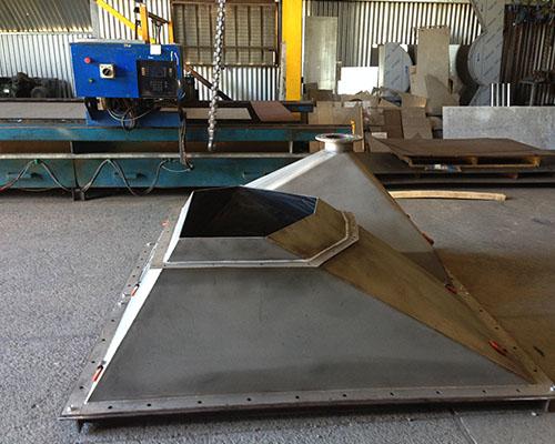 Sheet Metal Chute : Sheet metal fabrication harveys newcastle